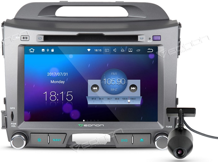 Eonon car stereo with Android 8 & 8 core processor